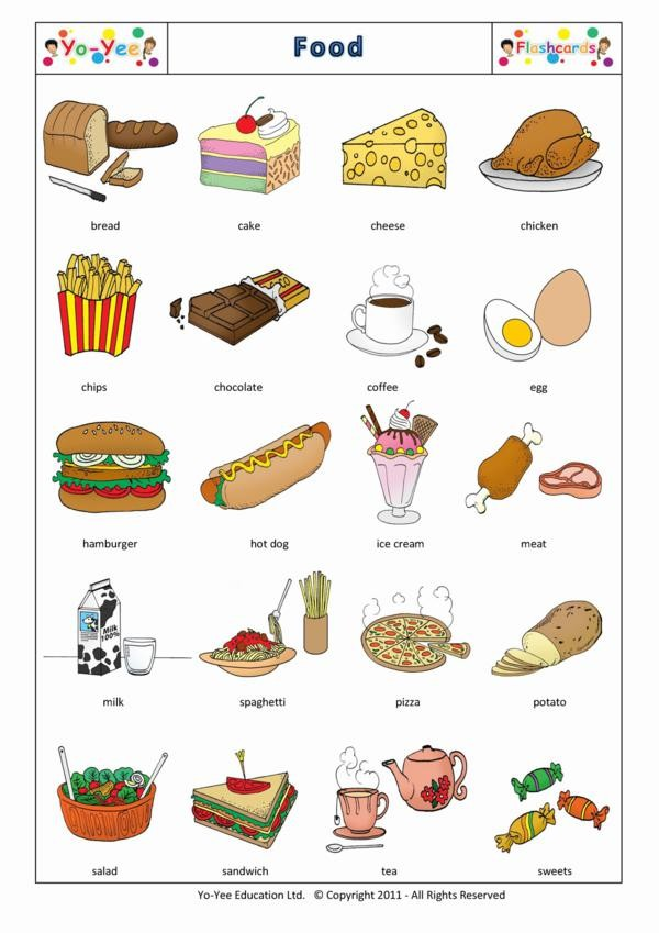 food flashcards vocabulary esl english printable alimentos cards flashcard drink spanish starter drinks toddlers chinese yee yo alimentation learning children