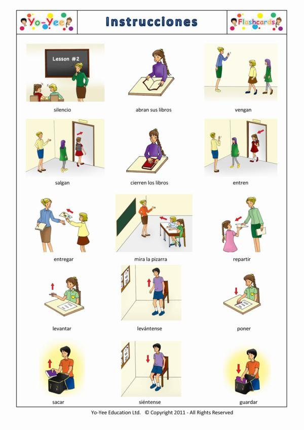 Instruction flashcards for children | instructions | teaching early