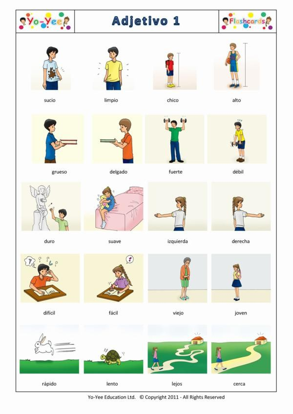 List of Adjectives For Kids Kids Adjectives List