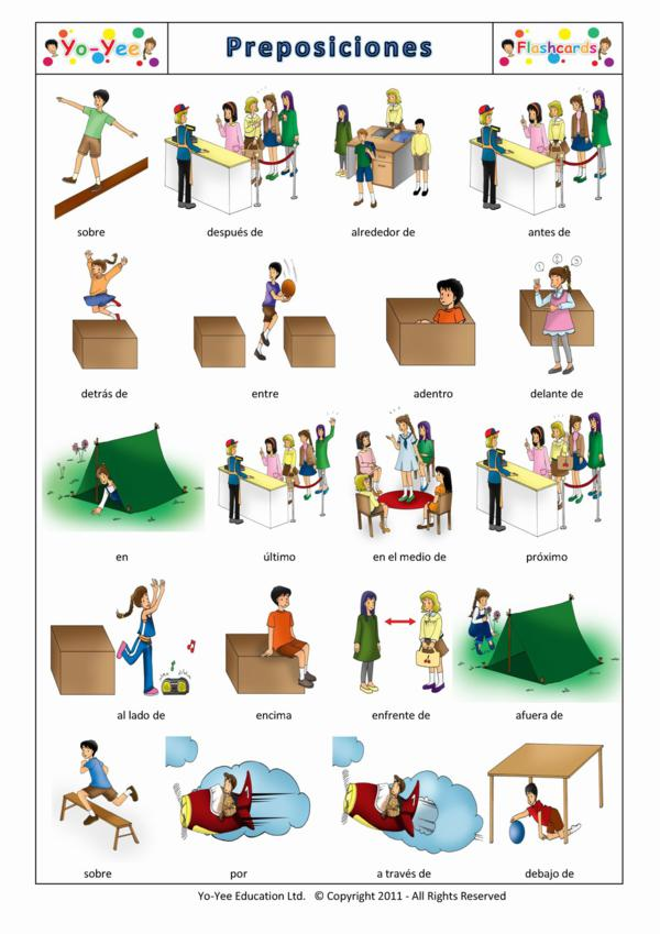 Preposition In Learn In Marathi All Complate: Prepositions Of Place Flashcards For Kids