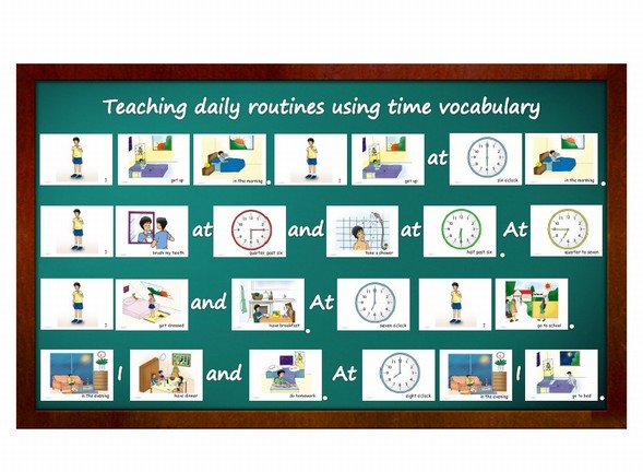 how to write daily routine in chinese