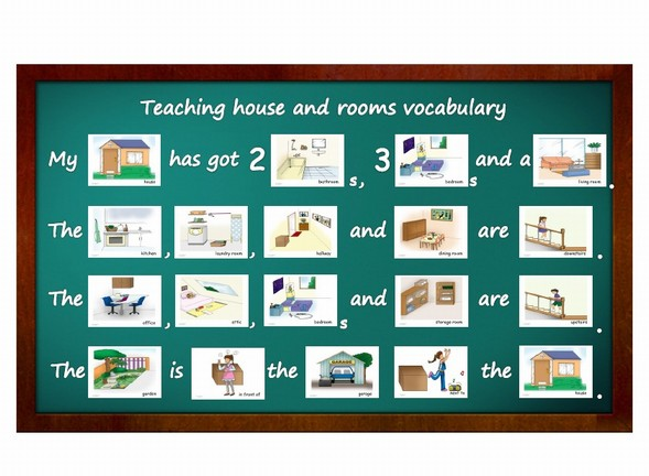 garage upstairs ideas - Flashcards Teaching Activities House and Rooms Yo Yee