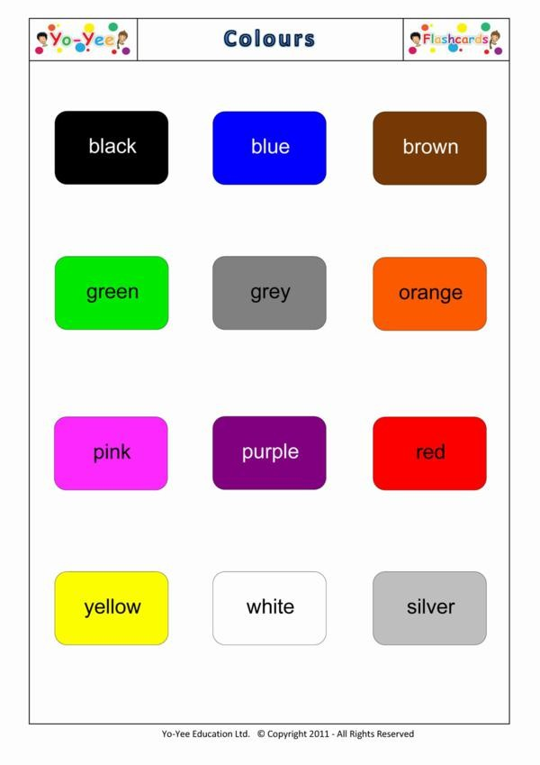 Colour flashcards for toddlers : u989cu8272 : Teaching color ...