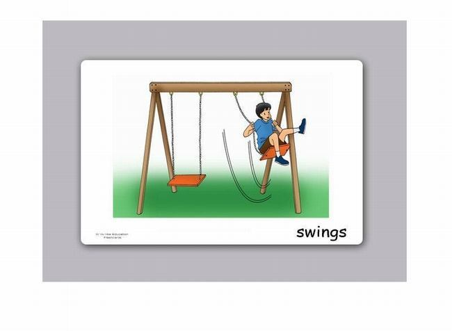 Playground And Schoolyard Flashcards For Kids